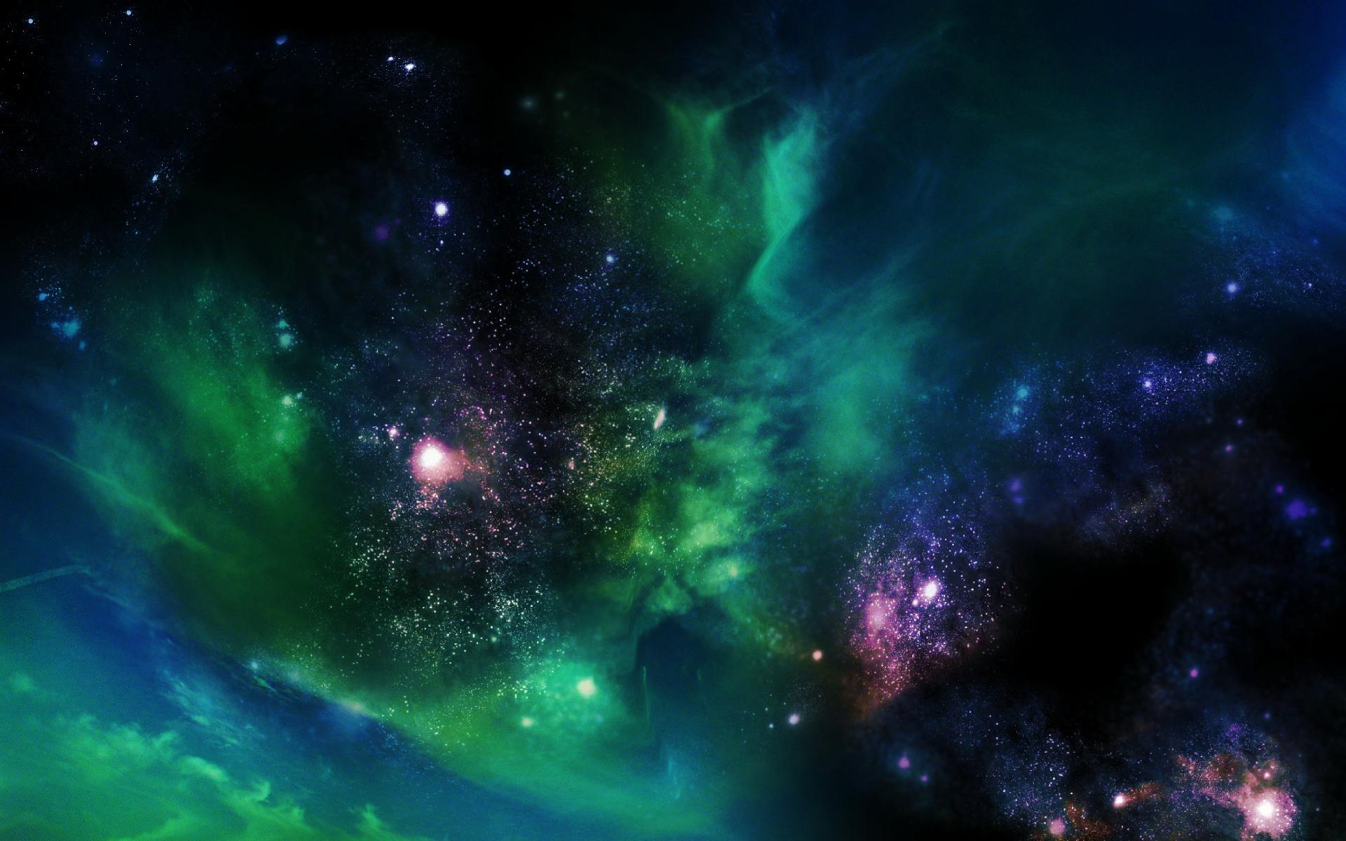 colorful galaxy stars - HD1920×1200